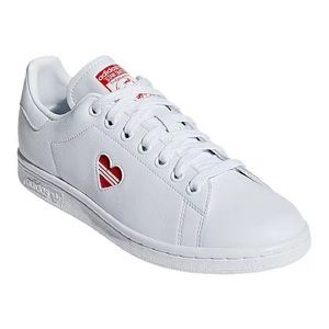 adidas Women's Stan Smith Shoes - White/Active Red